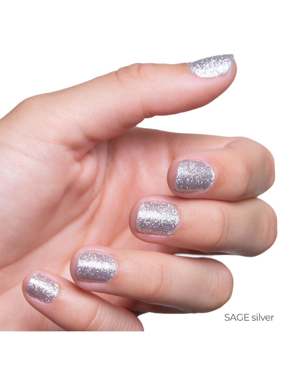 SAGE silver glitter