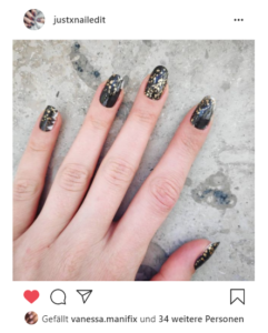 Insta Kundenbild schwarz weiss nailart