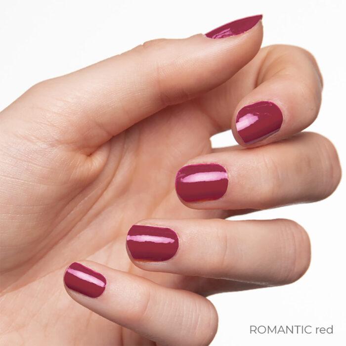 Hand ROMANTIC red