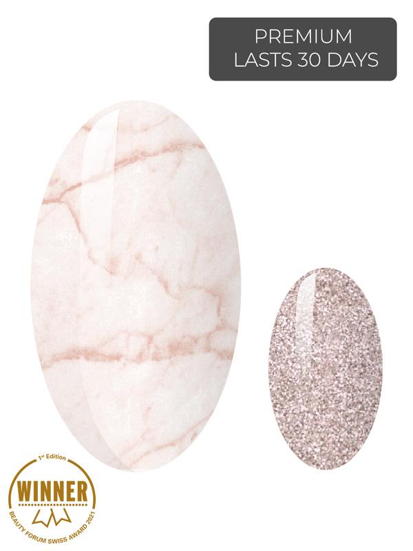 pink marble naegel uv gelfolien award 1